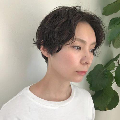 担当シオリ @shiori_tomii 大人short perm#hearty#shiori_hair #perm#shorthair #大人short#高崎美容室#高崎
