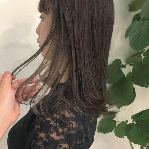 担当シオリ @shiori_tomii インナーカラーはこの夏おすすめですアレンジしても最高にかわいいのです🧚♀️#hearty#shiori_hair #インナーカラー#ハイライト#ブリーチ#高崎美容室#高崎