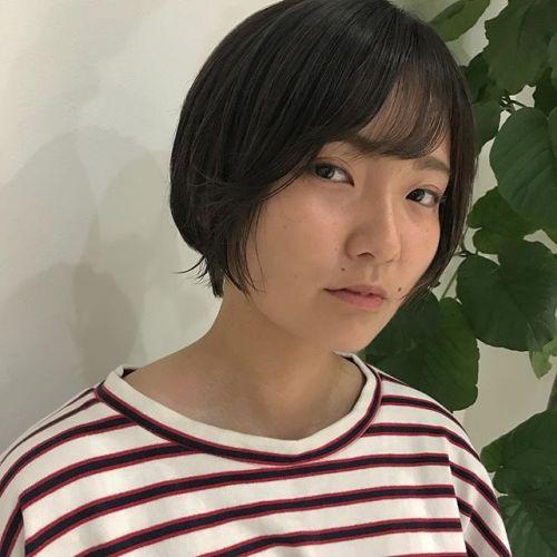 担当シオリ @shiori_tomii short bob🦁高校生カットは¥3500+taxです♡#hearty#shiori_hair #ショートボブ#高崎美容室#高崎