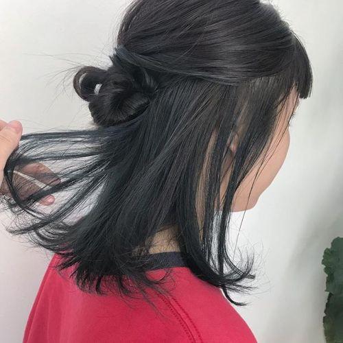 担当シオリ @shiori_tomii グレーとブルー🦈🐋#hearty#shiori_hair #ブルー#グレージュ#高崎美容室#高崎