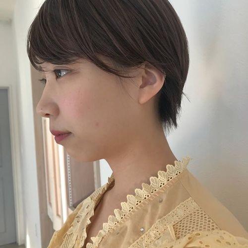 担当シオリ @shiori_tomii 女性らしいショートヘア🥀#hearty#shiori_hair #ショートヘア#ヘアスタイル#高崎美容室#高崎