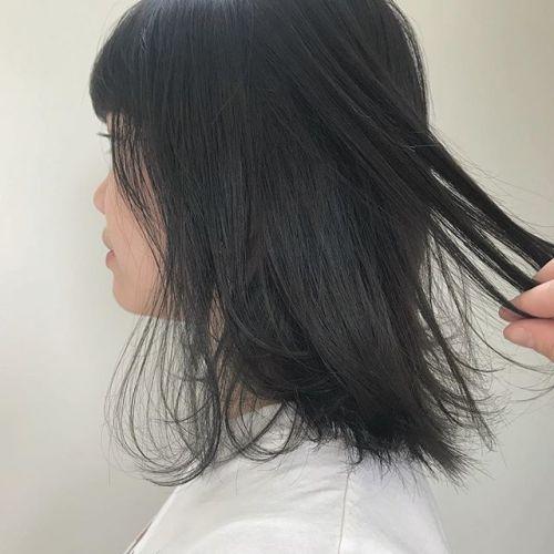 担当シオリ @shiori_tomii スモーキーグレーでトーンダウン#hearty#shiori_hair #グレージュ#スモーキーアッシュ#アッシュ#透明感カラー#高崎美容室 #高崎