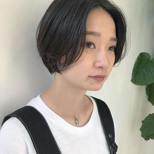 担当シオリ @shiori_tomii ハンサムショートに飽きたら襟足をばっさり切ってbobにするのもおすすめです#hearty#shiori_hair #ハンサムショート#ヘアスタイル#ショートヘア #ショートボブ #高崎美容室#高崎