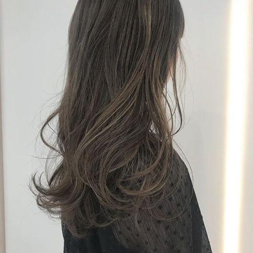 ムラムラにHighlightをいれてグラデーションカラーに #hearty#shiori_hair#ヘアスタイル#ヘアカラー#ベージュ#グラデーション#高崎美容室#高崎