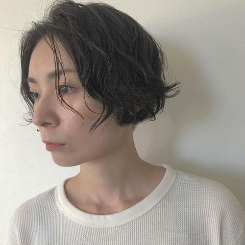 担当シオリ @shiori_tomii 全体的にゆるめパーマでアッシュベージュをon#hearty#shiori_hair #アッシュベージュ#パーマ#パーマスタイル #パーマボブ#高崎美容室#高崎#群馬