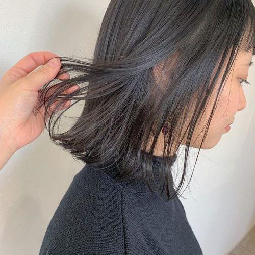 担当シオリ @shiori_tomii できるだけ深みのあるダークグレージュ色落ちも柔らかい色味がでるのでおすすめです#hearty#shiori_hair #ダークグレージュ#グレージュ#透明感カラー#地毛風カラー#高崎美容室#群馬美容室#高崎#群馬