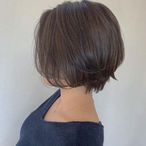 担当シオリ @shiori_tomii 大人ショートには明るめなアッシュベージュが上品で素敵です#hearty#shiori_hair #ショートヘア#アッシュベージュ#ベージュ#高崎美容室#群馬美容室#高崎#群馬
