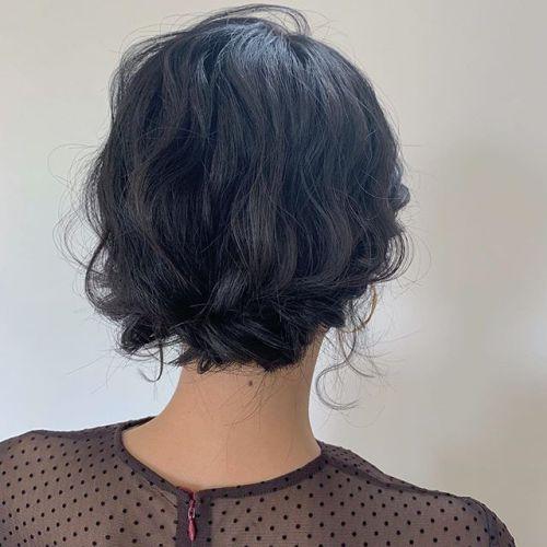 担当シオリ @shiori_tomii BOBもゆるっとアップスタイルにヘアアレンジ🥂#hearty#shiori_hair #ヘアセット#結婚式ヘアセット #成人式ヘア #高崎美容室#群馬美容室#高崎#群馬