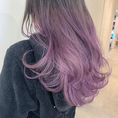 担当シオリ @shiori_tomii pink lavender#hearty#shiori_hair #ピンクラベンダー#ラベンダー#ハイトーンカラー #ブリーチ#ケアブリーチ#カラーバター#外国人風カラー #高崎美容室#群馬美容室#高崎#群馬