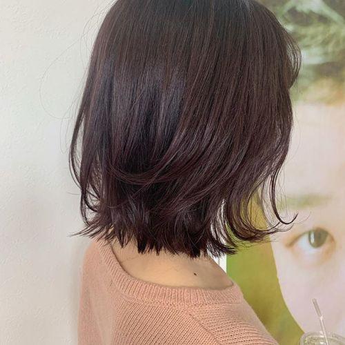 担当シオリ @shiori_tomii ブリーチなしでラベンダーピンク🧸#hearty#shiori_hair #ラベンダーピンク#ラベンダー#ミディアム#ボブ#高崎美容室#群馬美容室#高崎#群馬