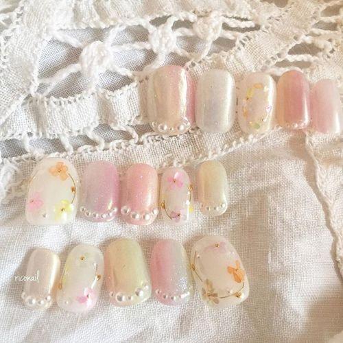 ブライダルネイルチップ❁#riconail #HEARTY #abond #nail #nails #gelnail #gelnails #nailart #instanails #nailstagram #beauty #fashion #nuancenail #ネイル #ジェルネイル #ネイルデザイン #ニュアンスネイル #ヴィンテージネイル #ブライダルネイル #結婚式ネイル #ネイルチップ #オーダーチップ @riconail123