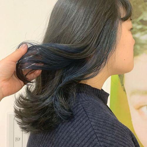 担当シオリ @shiori_tomii ブルージュにブルーのハイライト#hearty#shiori_hair #ブルージュ#ブルー#ハイライト#カラーバター#高崎美容室#群馬美容室#群馬#高崎