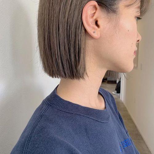 担当シオリ @shiori_tomii モカベージュを目指してまずはアッシュベージュで土台をつくります♡#hearty#shiori_hair #ベージュ#アッシュベージュ#ヘアスタイル#高崎美容室#群馬美容室#高崎#群馬