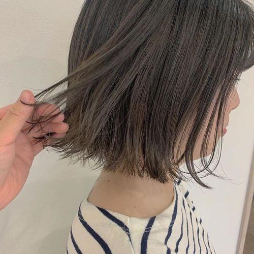 担当シオリ @shiori_tomii 切りっぱなしbobのグレージュカラー#hearty#shiori_hair#切りっぱなしボブ#グレージュ#モカベージュ#高崎美容室#群馬美容室#高崎#群馬