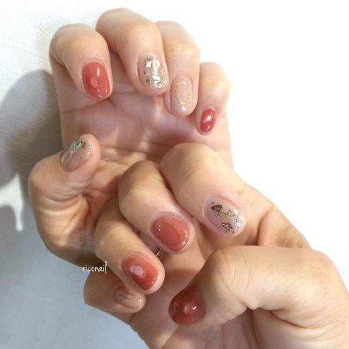 華奢なワイヤーは あえていびつなカタチで ༘*#riconail #HEARTY #abond #nail #nails #gelnail #gelnails #nailart #instanails #nailstagram #beauty #fashion #nuancenail #ネイル #ジェルネイル #ネイルデザイン #ニュアンスネイル #ワンカラーネイル #テラコッタネイル #個性派ネイル @riconail123