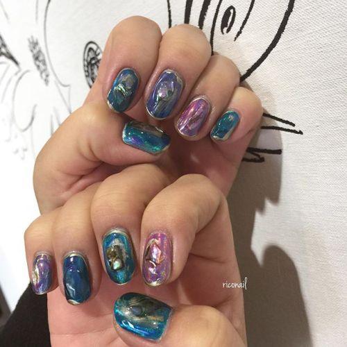 ユニコーンパウダーでキラキラ✩#riconail #nail #nails #gelnail #gelnails #nailart #instanails #nailstagram #beauty #fashion #nuancenail #ネイル #ジェルネイル #ネイルデザイン #ニュアンスネイル #ミラーネイル #ユニコーンパウダーネイル #個性派ネイル @riconail123