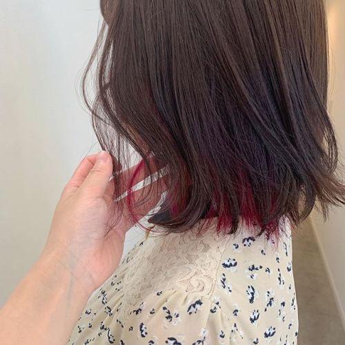 担当シオリ @shiori_tomii インナーブリーチしてインナーカラー️ケアブリーチを使用しているのでダメージを最小限に抑えて明るくすることができます♀️#hearty#shiori_hair #インナーカラー#ハイライト#カラーバター#ピンクカラー#高崎美容室#群馬美容室#高崎#群馬
