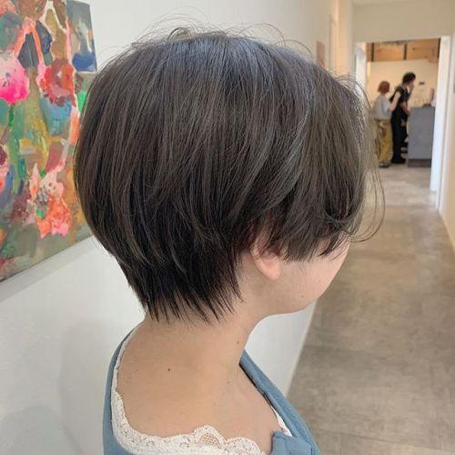 担当シオリ @shiori_tomii 王道なロイヤルベージュ#hearty#shiori_hair #ショートヘア#透明感カラー#高崎美容室#群馬美容室#高崎#群馬