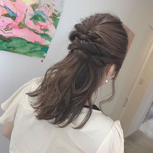 hair set ︎・・大人目なハーフアップアレンジ@shun09250 担当野上・・#HEARTY#abond#高崎#高崎美容室#群馬