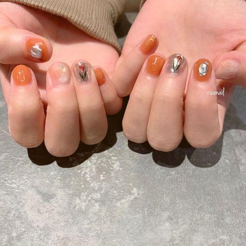 テラコッタ ༘*#riconail #HEARTY #abond #nail #nails #gelnail #gelnails #nailart #instanails #nailstagram #beauty #fashion #nuancenail #ネイル #ジェルネイル #ネイルケア #ニュアンスネイル #個性派ネイル @riconail123