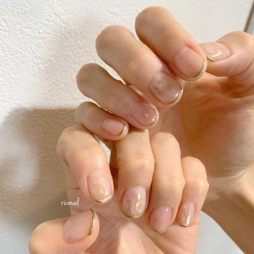 クリアにシアーホワイトでもやっと️華奢なフレンチがかわいいಇ#riconail #HEARTY #abond #nail #nails #gelnail #gelnails #nailart #instanails #nailstagram #beauty #fashion #nuancenail #ネイル #ジェルネイル #ネイルケア #ニュアンスネイル #個性派ネイル @riconail123