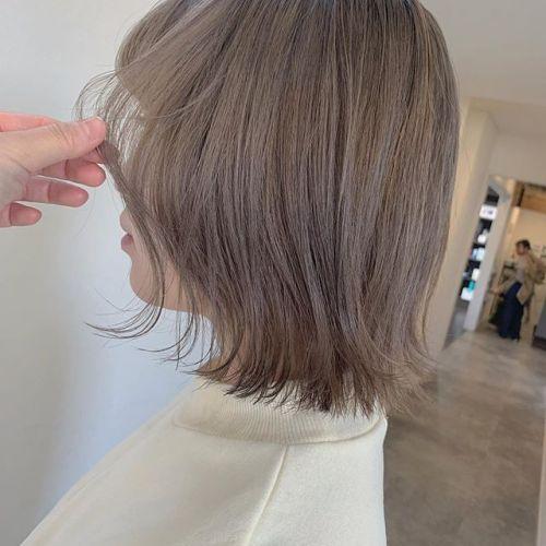 担当シオリ @shiori_tomii ミルクティベージュ🥣#hearty#shiori_hair #ミルクティーベージュ #ミルクティーグレージュ #ベージュ#高崎美容室#群馬美容室#高崎#群馬