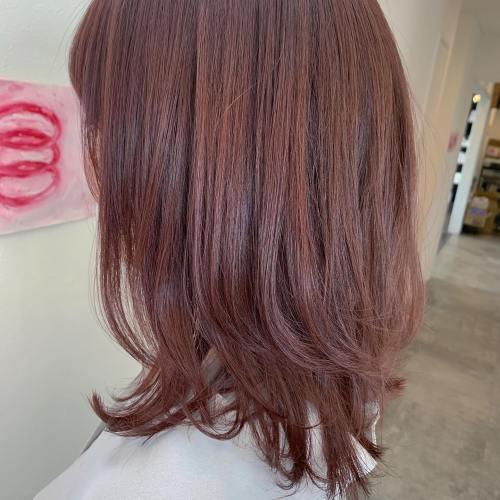 担当シオリ @shiori_tomii ピンクブラウン#hearty#shiori_hair #ピンクブラウン#ピンクヘアー #ピンクカラー #レイヤーカット #高崎美容室#群馬美容室#高崎#群馬