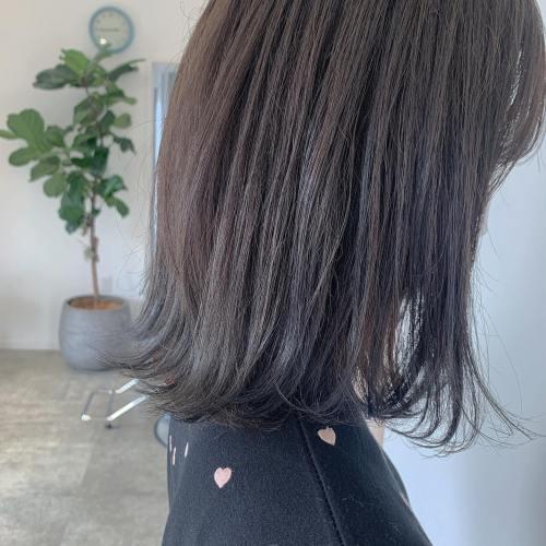 担当シオリ @shiori_tomii グレージュでトーンダウン#hearty#shiori_hair #グレージュ#アッシュグレー#ブルーアッシュ#高崎美容室#群馬美容室#高崎#群馬