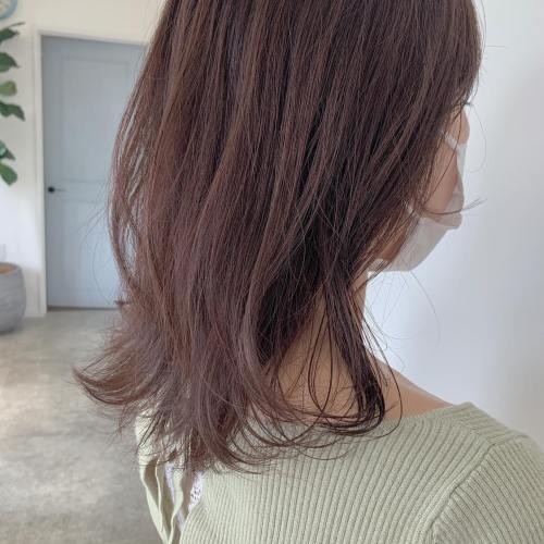 担当シオリ @shiori_tomii ココアベージュ️🤎ほんのーりピンク感があるブラウンにすることによってお肌の白さと透明感がめっちゃでます今イチオシです#hearty#shiori_hair #ココアブラウン #ピンクブラウン#高崎美容室#群馬美容室#高崎#群馬