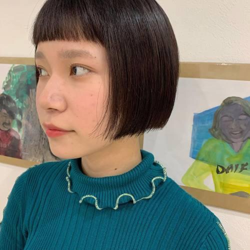 担当シオリ @shiori_tomii #hearty#shiori_hair #アメリボブ#ボブ#ボブヘアー #切りっぱなしボブ#外国人風ヘアー #高崎美容室#群馬美容室#高崎#群馬