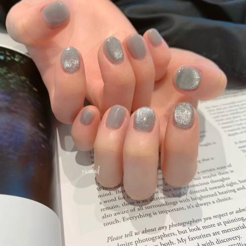 ミキシングカラーにマグネット⋆⋆#riconail #HEARTY #abond #nail #nails #gelnail #gelnails #nailart #nuancenail #高崎美容室 #ネイルサロン #ネイル #ジェルネイル #ネイルケア #ニュアンスネイル #シアーネイル #マグネットネイル @riconail123
