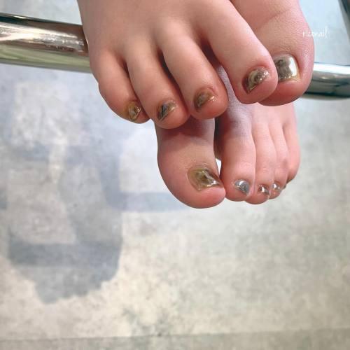 フットネイルのお客様がどんどん増えてきています︎#riconail #HEARTY #abond #nail #nails #gelnail #gelnails #nailart #nuancenail #footnail #高崎美容室 #ネイル #ジェルネイル #ネイルケア #フットネイル #ニュアンスネイル @riconail123