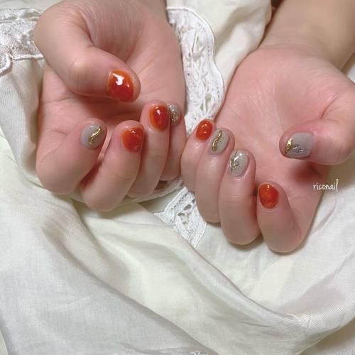 abondのスタイリストとみいまほちゃん(@mahotomii )のネイル︎#riconail #HEARTY #abond #nail #nails #gelnail #gelnails #nailart #nuancenail #高崎美容室 #ネイル #ジェルネイル #ネイルケア #ニュアンスネイル #クリアネイル