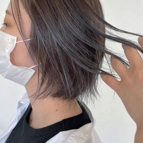 担当シオリ @shiori_tomii ブルーアッシュのハイライトでムラカラーに#hearty#shiori_hair #高崎美容室#群馬美容室#高崎#群馬