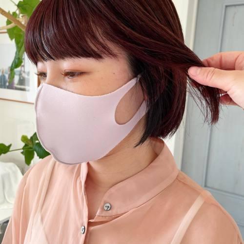 バーガンディーカラーに前髪ともみ上げにローライト担当シオリ @shiori_tomii #hearty#shiori_hair #高崎美容室#群馬美容室#高崎#群馬