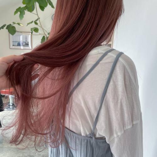 担当シオリ @shiori_tomii ラズベリーピンク#hearty#shiori_hair #高崎美容室#群馬美容室#高崎#群馬