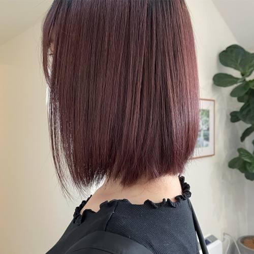 担当シオリ @shiori_tomii pink gray🏝#hearty#shiori_hair #ピンクラベンダー#ピンクベージュ #ピンクグレー#アッシュピンク#高崎美容室#群馬美容室#高崎#群馬