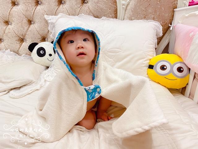 吸水浴巾有機棉∥喜福小斗篷連帽浴巾