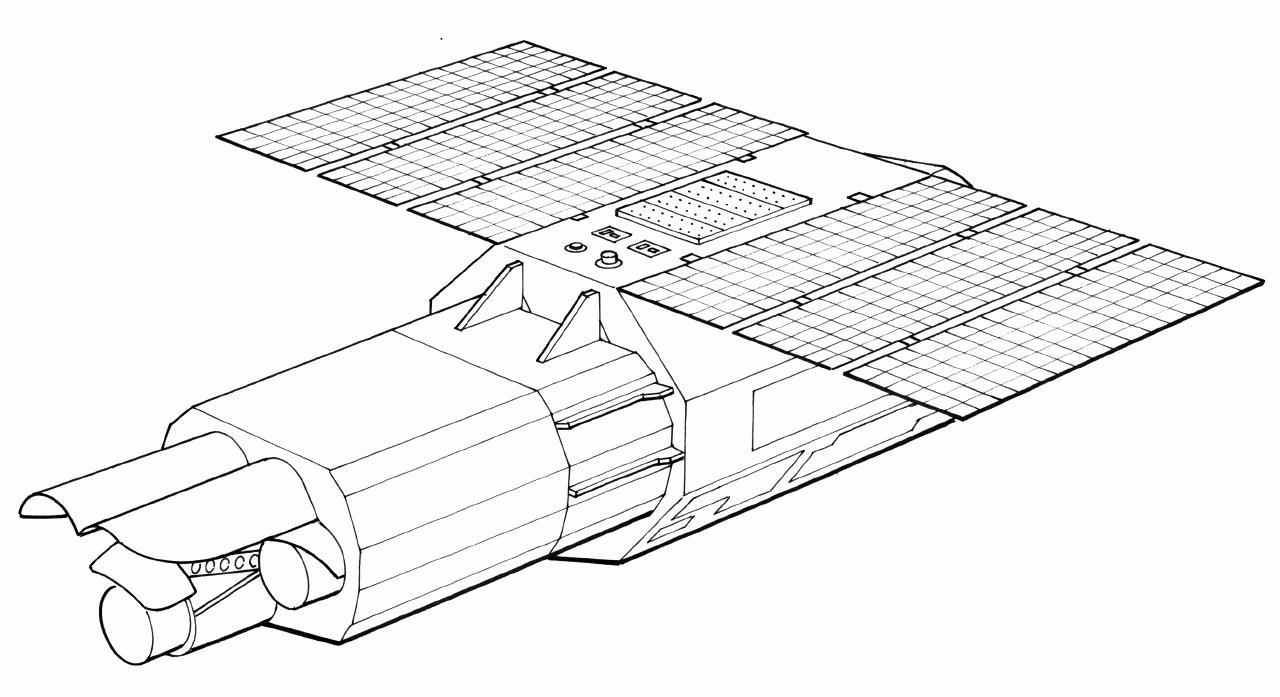 Astro-E Image: Top Schematic
