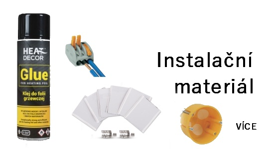 instalační materiál k topným foliím