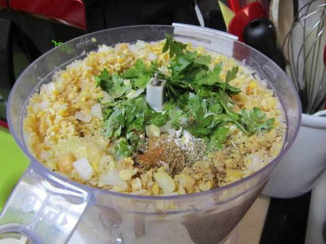 Add the ingredients to the food processor and blitz!