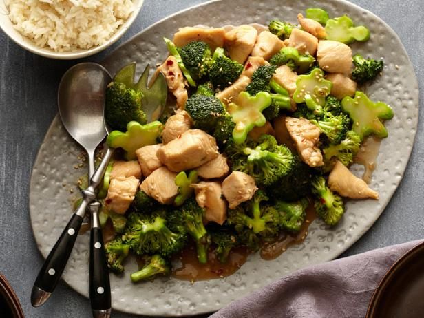 Chicken & Broccoli Stir-Fry (from The Food Network's website)