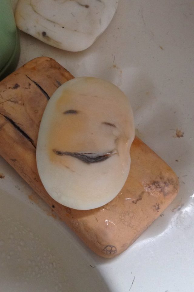 Can you see his face in this bar of soap?