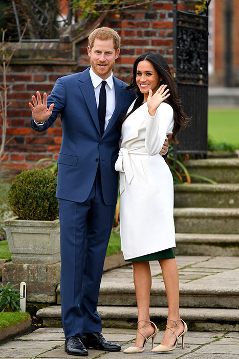 Prince Harry and Meghan Markle First Engagement Picture with White Coat