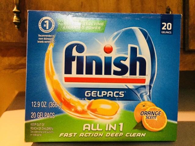 Countertop dishwasher detergent