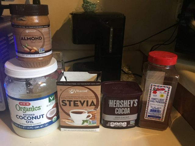 Ingredients for Spiced Chocolate Fat Bombs