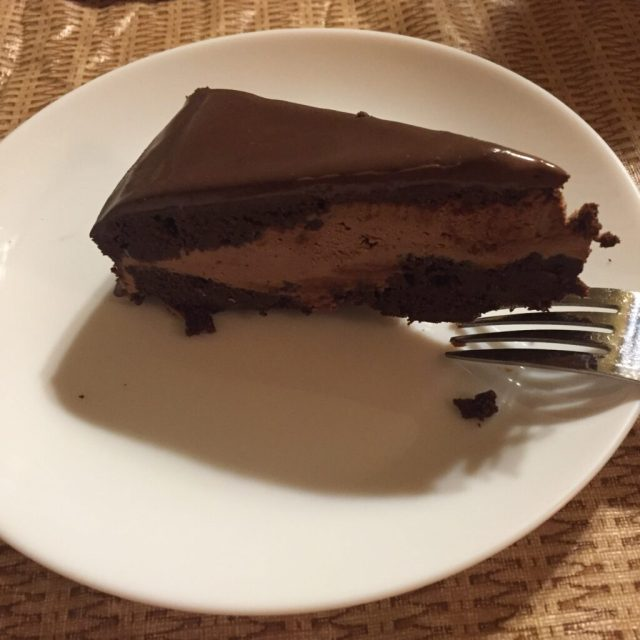 Actual slice of Amy's cake
