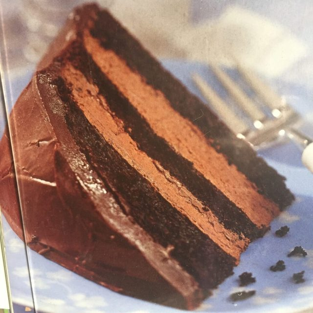 Picture of chocolate cake from cookbook