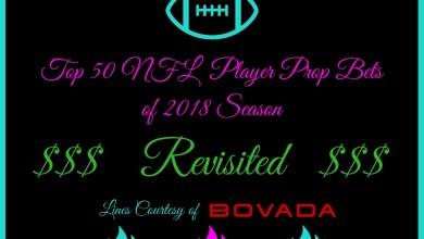 2018 NFL Season Prop Bets
