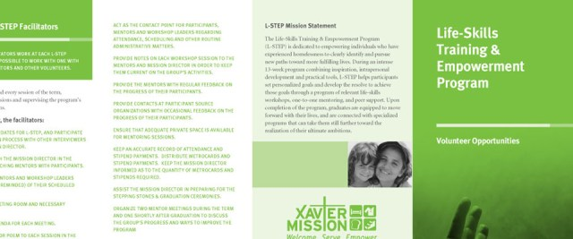 Xavier Mission Brochure Design Preview